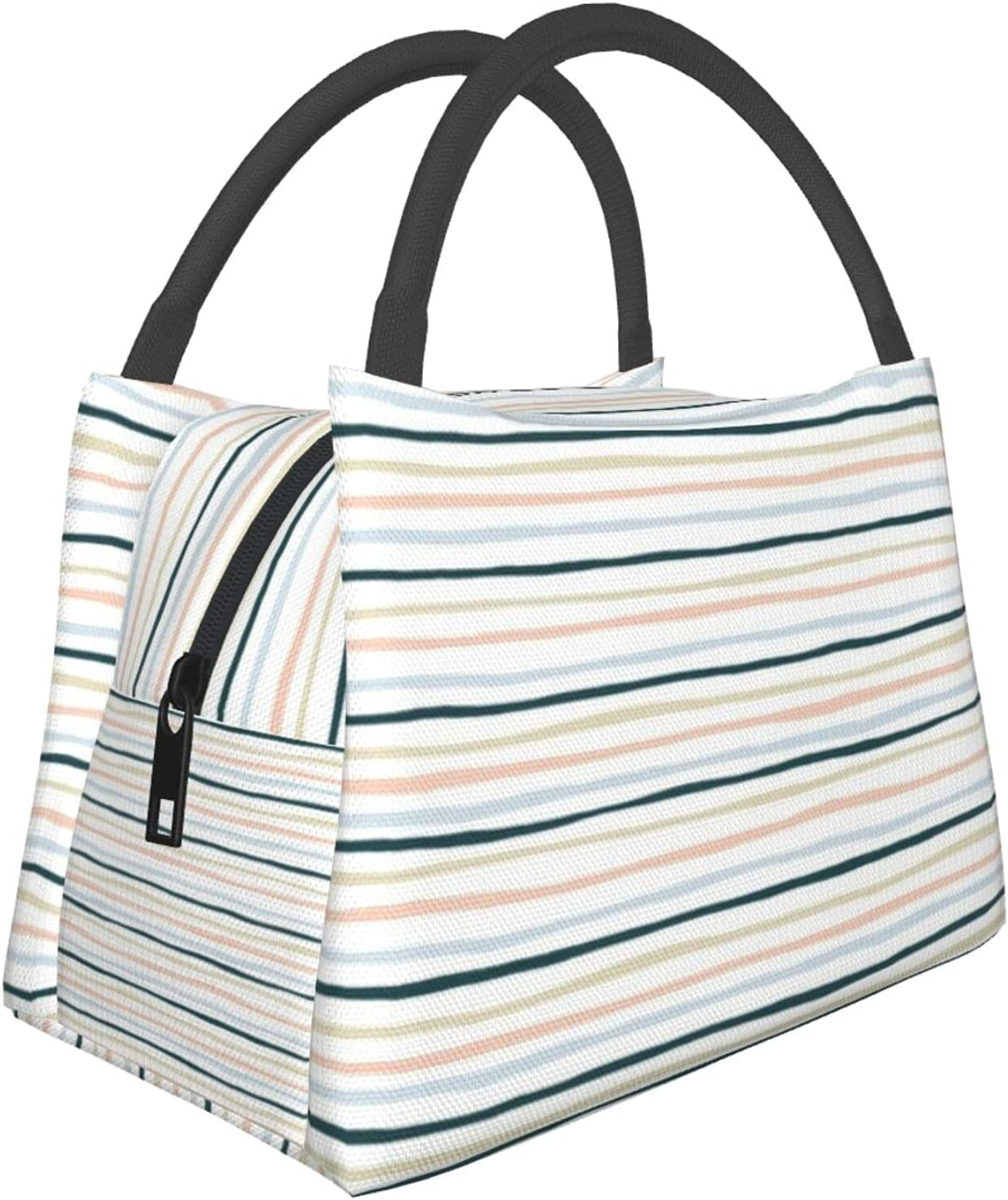 Portable Insulation Credence New mail order Bag Lunch White Lines Large Shenanigans