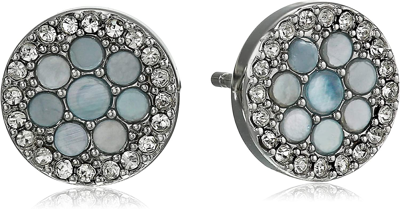 新作多数 Fossil 国産品 Women's Silver-Tone Steel Earrings Stainless