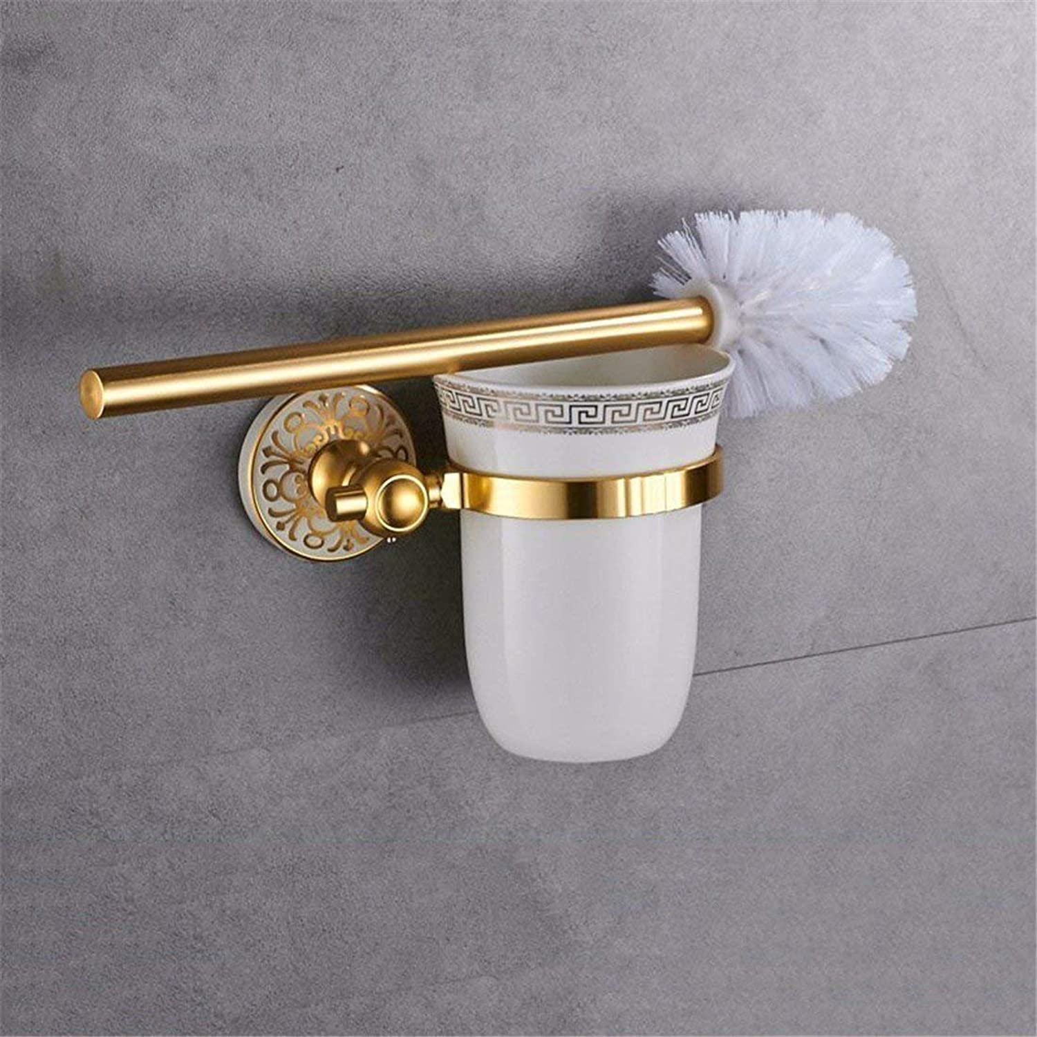 Garden of The American Space in White Aluminum Doré Accessories for Bathroom, Toilet, Hair-Towels,Rack Brush wc