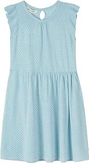 Mini Phoebee Little Girls Cotton Sleeveless Knit Ruffle Summer Dress Casual/Party/School 4-9 Years