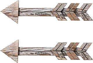 TIMEYARD Rustic Wood Arrow Decor, Set of 2 Rustic Arrow Sign Wall Decor, Decorative..