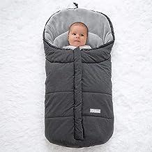 Orzbow Saco silla paseo invierno Universal para Cochecito y Silla de paseo - para carro bebe,capazo - Impermeable a Prueba de Viento Hasta -10° (Dark Gray,0-12 Meses)