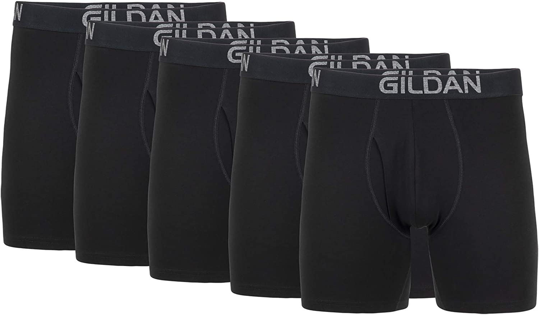 Gildan Men's Cotton Stretch Boxer Brief, Multipack