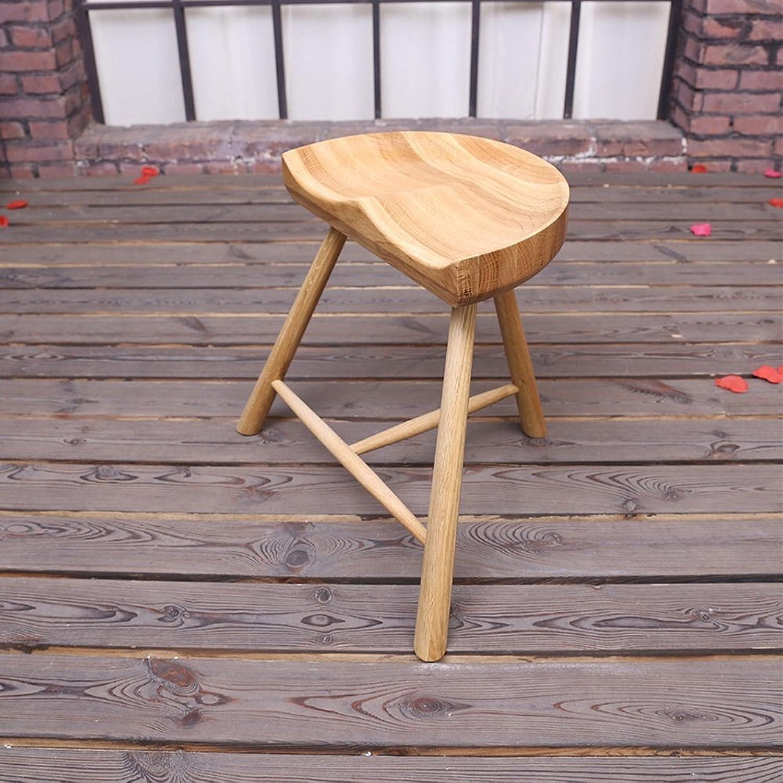 Solid wood bar stool   fashion simple high stool   bar stool   casual solid wood bar chair 38  25.5  59cm