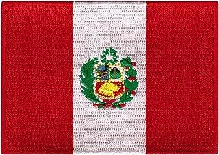 Peru Flag Embroidered Patch Peruvian Iron-On National Emblem