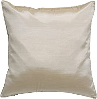 Avarada 16x16 Inch (40x40 cm) Solid Decorative Throw Pillow Case Cushion Cover for Sofa Couch Chair Bed Insert Not Included Zipper Beige