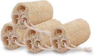 Natural Loofah Sponge Bath Shower - 4 Pcs Body Loofahs Back Scrubber for Women Men Kid Skin Care, Eco Friendly Organic Luf...
