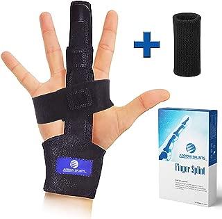 Finger Extension Splint for Trigger Finger, Mallet Finger, Arthritis Finger Splint. Pain Relief from Tendonitis, Broken or Fractured Finger. Provides Index, Pinky, Middle, Ring Finger Immobilization