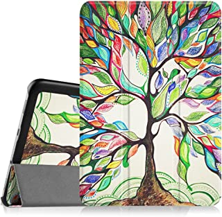 Fintie Slim Shell Case for Samsung Galaxy Tab S2 8.0 - Ultra Lightweight Protective Stand Cover with Auto Sleep/Wake Feature for Samsung Galaxy Tab S2/S2 Nook 8.0 Inch Tablet, Love Tree