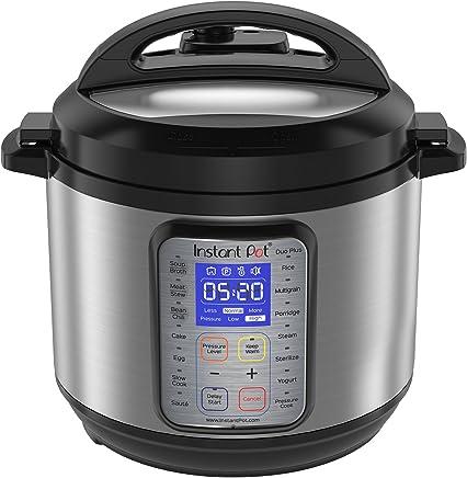 Instant Pot DUO Plus 60, 6 Qt  9-in-1 Multi- Use Programmable Pressure Cooker, Slow Cooker, Rice Cooker, Yogurt Maker, Egg Cooker, Sauté, Steamer, Warmer, and Sterilizer