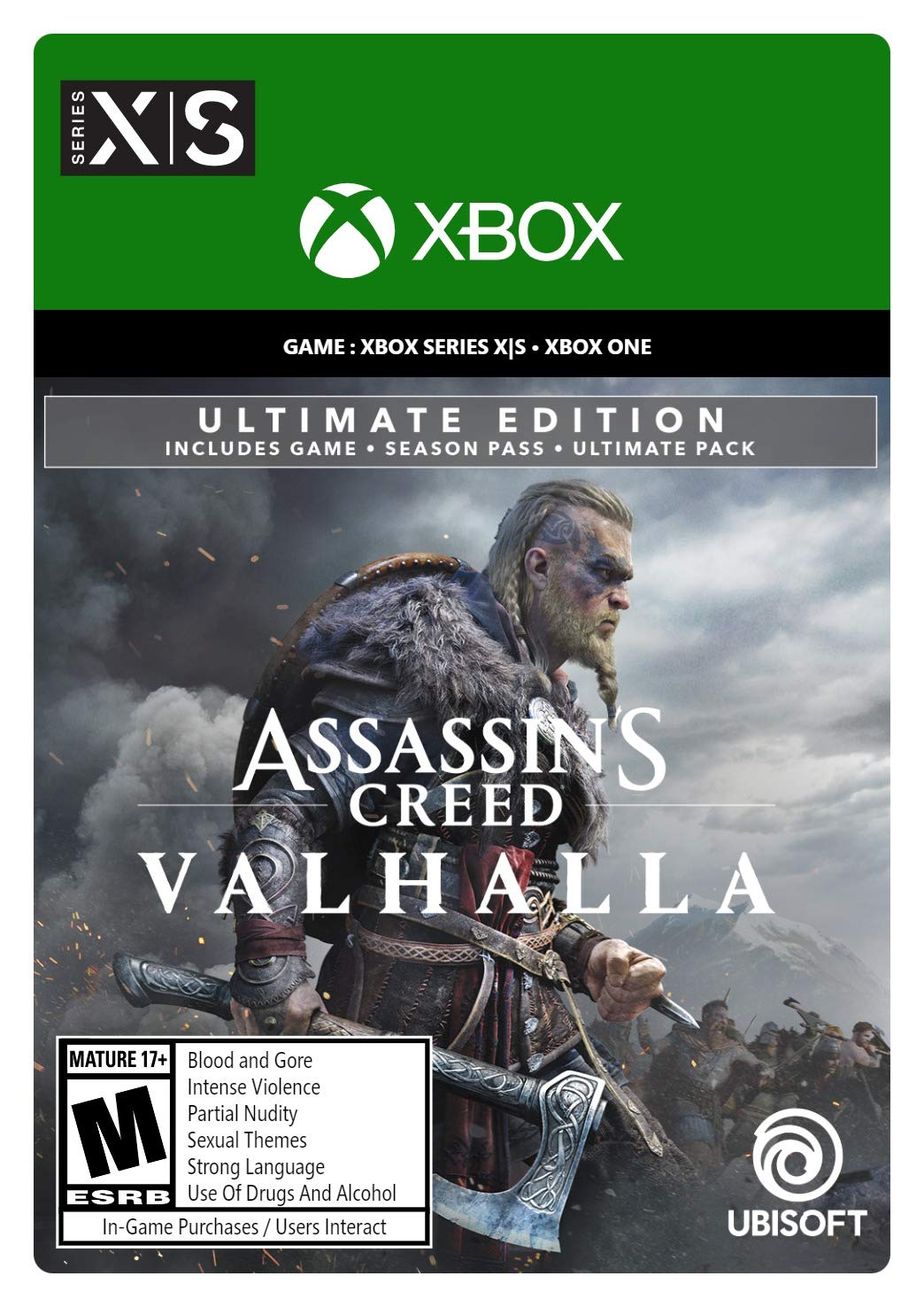 Assassin's Creed Valhalla Xbox Series X S - Pre-load, Xbox One Ultimate Edition [Digital Code]