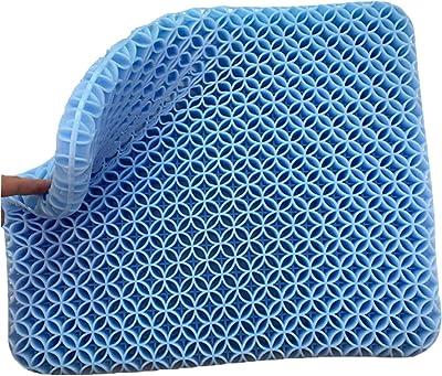 ゲルクッション 無重力 カバー2枚付き 三代目座布団 超通気 健康クッション 姿勢矯正 蒸れない クッション (43cm*39cm*3cm)