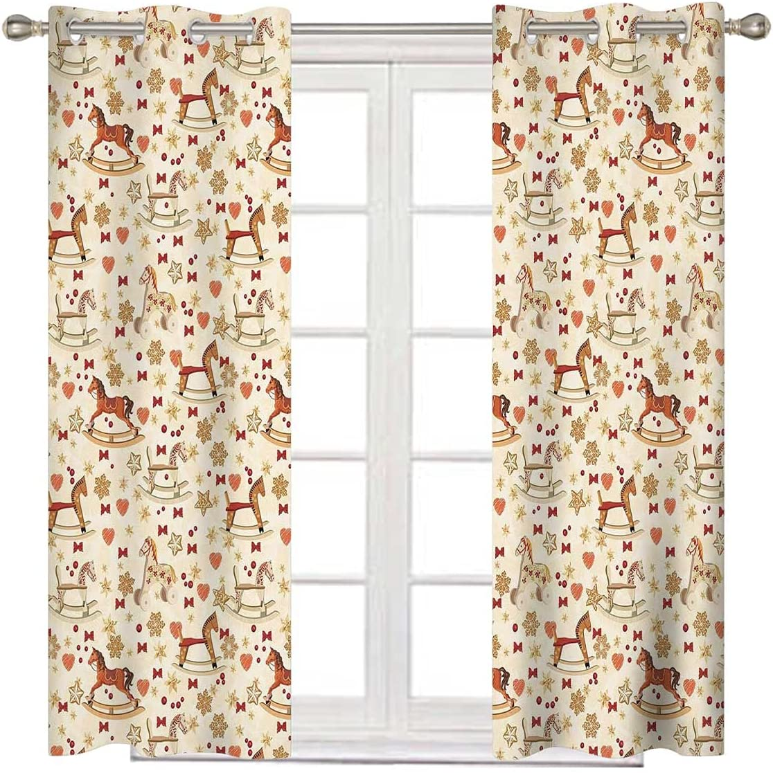 Toy Horse Short Curtain 63 Curt Inches Blackout Multicolor Long Kansas City Mall Bombing new work