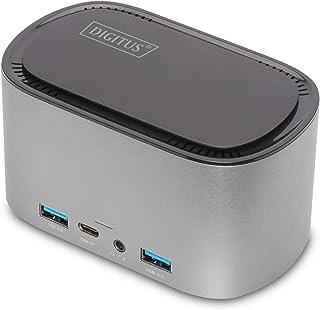 Digitus - Docking Station USB-C a 11 Porte, alloggiamento M.2 SSD, Display Tripple + 2 HDMI - Gigabit LAN - PD 3.0