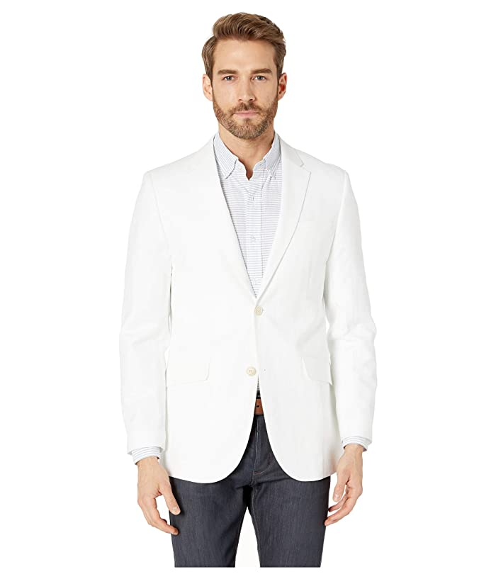 Perry Ellis  Slim Fit End on End Linen Jacket (Bright White) Mens Clothing