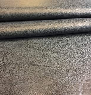 Craft Projects Genuine Thin Lambskin Rustic Finish Spanish Full Skin Soft Upholstery Fabric Black Leather Hide DIY Supply Varios Black Color 7 sq ft, Black Home Decor Material