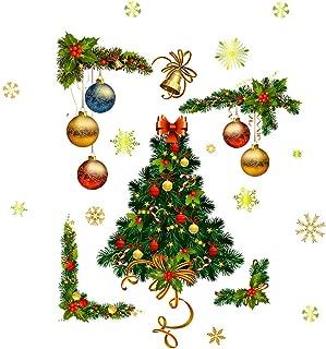 Nstcher Merry Christmas Window Wall Sticker Decals Snowflake Santa Claus Home Xmas Decor