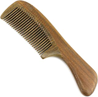 Evolatree Wooden Comb for Hair - Handmade Natural Wood Combs with Anti-static & No Snag - Smoothing Travel Comb, Fine Tooth, 6.75