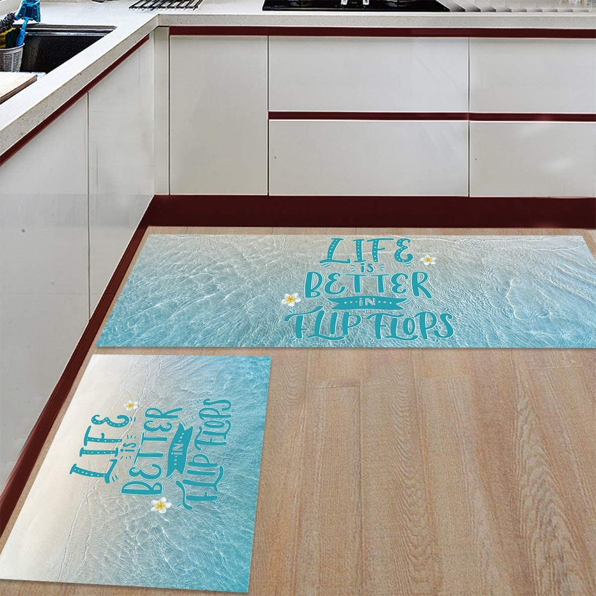 Kitchen Rug Set 2 Pieces Our 2021new shipping free shipping shop most popular Non Ocean Floor Slip Beach Mat