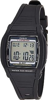 Casio Unisex-Adult Quartz Watch, Digital Display and Plastic Strap W-201-1AVEF