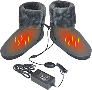 ObboMed MF-2320M Far Infrared Carbon Fiber Heated Foot Warmer/Boots/Slipper, 12V 20W – Far Infrared wavelength 8-15 μm (Health Range: 4-14 μm), Auto Off, Size M: #41 (fits Foot up to 41)
