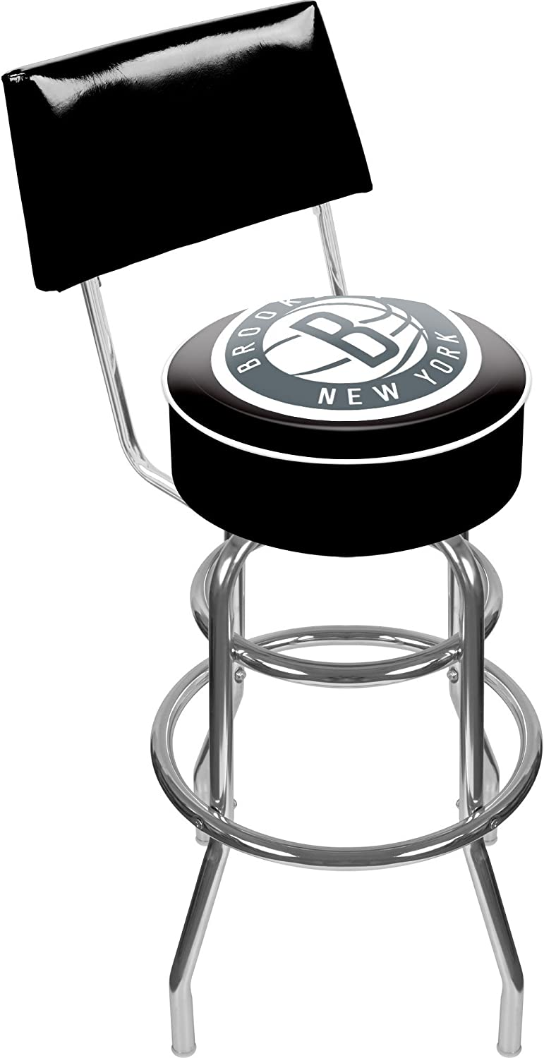 NBA Brooklyn Nets Padded Popular brand in the world Swivel Back New popularity with Bar Stool