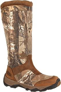 Men's Retraction Waterproof Side-Zip Snake Boot Knee High