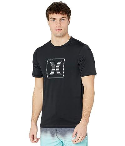 Hurley Americana Short Sleeve Rashguard (Black) Men