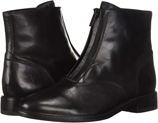 Black Dip-Dyed Leather