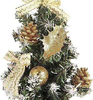 Goefly Mini Albero di Natale, Decorazioni per Piccoli Alberi di Natale Artificiali Palle di Natale Alberi di Natale Artificiali per Decorazioni Desktop di Natale