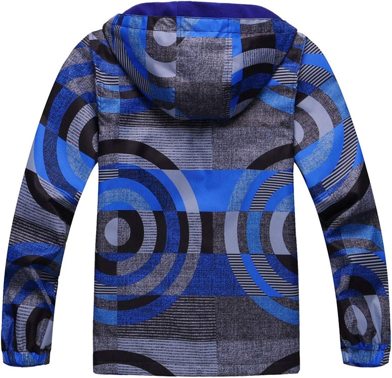 WYTbaby Kids Waterproof Rain Jacket Girls Boys Fleece Outerwear Hooded Lined Windbreaker