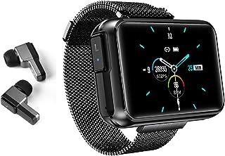 Reloj inteligente con auriculares Bluetooth inalámbricos, pulsera inteligente para hombre y mujer, para el tiempo, frecuencia cardíaca, presión arterial, rastreador de fitness, pulsera de música