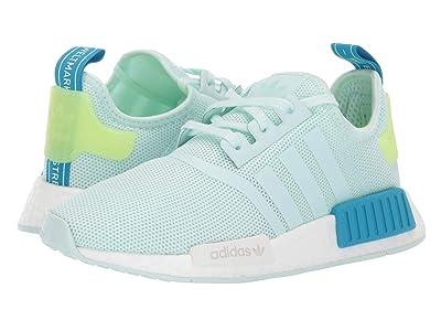 adidas Originals Kids NMD_R1 J (Big Kid) (Ice Mint/Shock Cyan) Kids Shoes