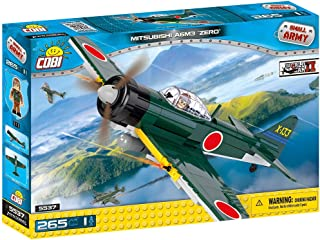 COBI 5537 Small Army Mitsubishi A6M3 Zero Plane, Green