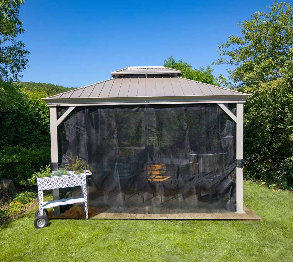 Sojag Messina - Carpa de Acero para jardín, 4 x 5 m, Cubierta de Aluminio para Proteger del Sol, Resistente al Agua, Robusta, Resistente a la Intemperie, Duradera y Resistente al Invierno: