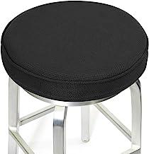 "(12""(30cm), Black) - Shinnwa Bar Stool Cushions,Memory Foam Bar Stool Covers Round Cushion with Non-Slip Backing and Elast..."
