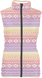 Rainbow Rules Aztec Tribal Ombre Mens Puffer Vest Bodywarmer Gilet
