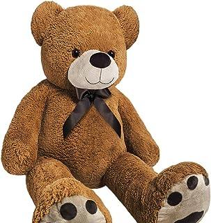 Monzana Oso de Peluche tamaño L-XXL, 100 cm, 150 cm o 175 cm, Suave, para niños, Grande, Color marrón, Large