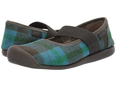 Keen Sienna Mary Jane Plaid (Blue/Climbing Ivy) Women