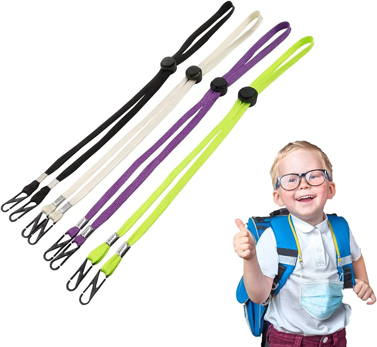 Multifunction Face Mask Lanyard Adjustable with Clips Sun hat wind rope