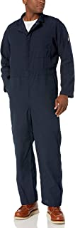 Bulwark Men's Flame Resistant 4.5 Oz Nomex IIIA Classic Coverall with Hemmed Sleeves