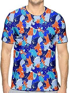 Orange Short Sleeve Dress Shirts Slim Fit Button Down Solid Stretch Premium #SHAS