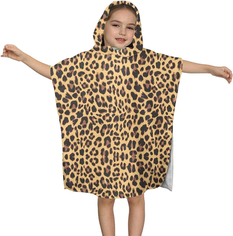 Rononand gift Yellow Leopard Pattern Hooded Kids Popular popular Towel Bath T