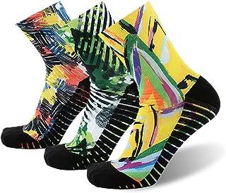 MEIKAN Unisex Crazy Digital Printing Athletic Performance Running Quarter Socks 1, 3, 4 Pairs