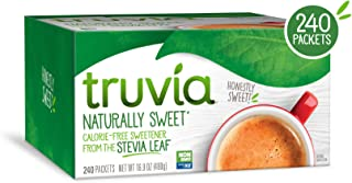 Truvia Natural Stevia Sweetener Packets, (Net Wt. 16.92 oz), 240 Count (Pack of 1)