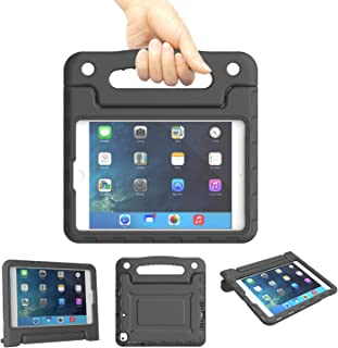 Kids Case for iPad Mini 1 2 3 4 5 Generation - Lightweight Shockproof Convertible Protection Cover with Built-in Handle Stand Children Tablet - Retina Display (Black)