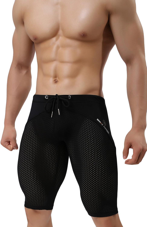 sandbank Men's Compression Topics on Popular standard TV Sports Mesh Shorts Workout Tight