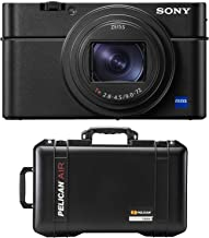 Sony Cyber-Shot DSC-RX100 VI Digital Camera + Pelican 1535 AirWD 2017 Wheeled Carry-On Case with Dividers (Black)
