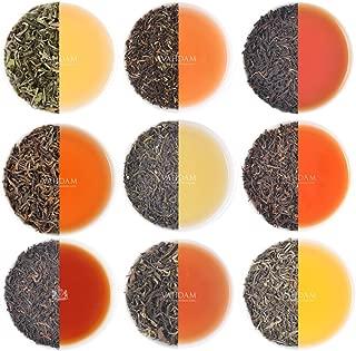 VAHDAM, Darjeeling Tea Sampler - 10 TEAS, 50 Servings | 100% Pure Unblended Darjeeling Tea Loose Leaf | Darjeeling First Flush & Second Flush - Brew Hot or Iced - Tea Variety Pack, 3.53oz