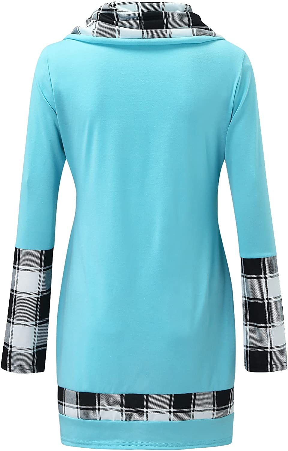 Sweatshirt for Women Long Sleeve Casual Waffle Turn Down Collar Trendy Split Thickening Pullover Tops Tee for Girls